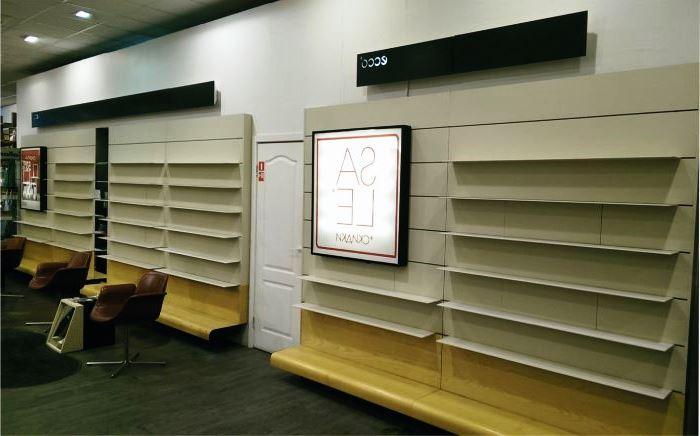 Торговое оборудование и витрины для магазинов