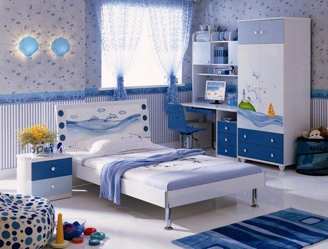 Мебель в синих цветах