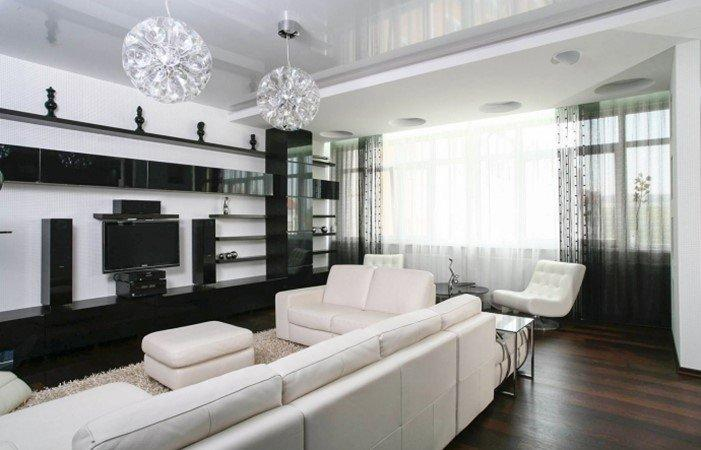 Мебель в черно-белых цветах